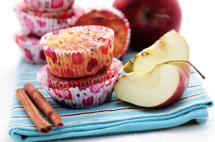 Flourless Apple Cinnamon Muffins