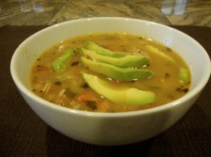 Mexican Scrappy Chicken Soup