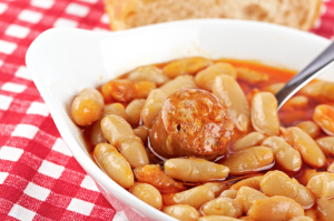 Baked Beans & Chicken Sausage