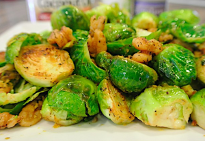nut cheese brussel sprouts