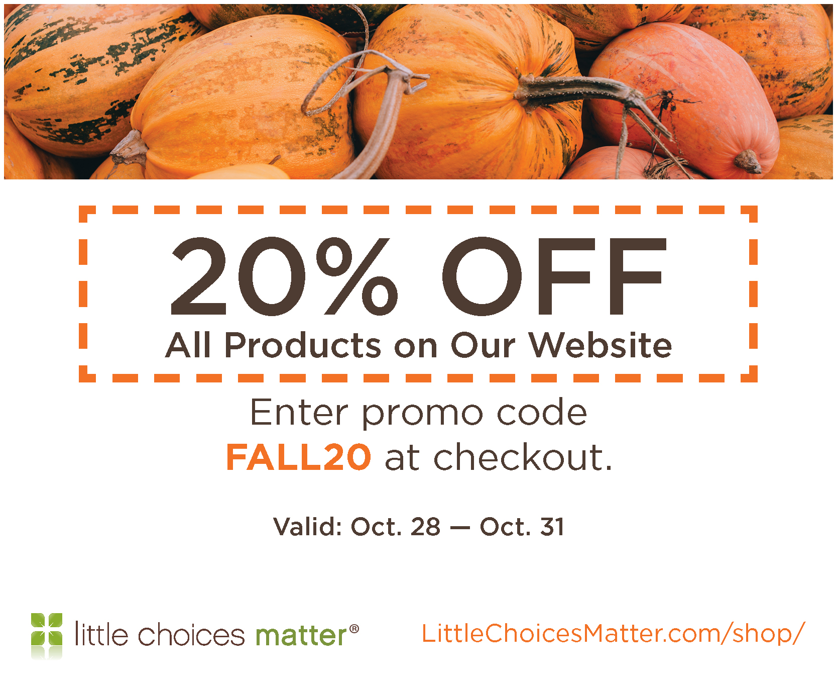 Fall Coupon 20% Off!