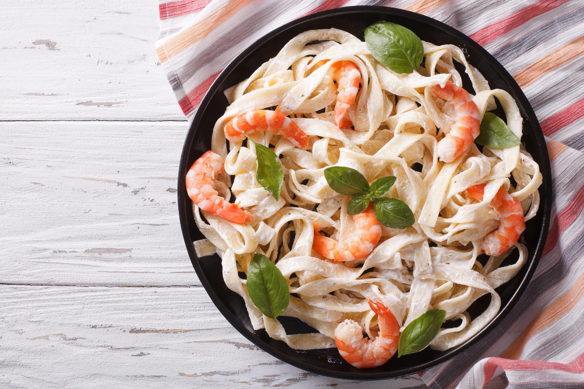 GF Shrimp Fettucine Cauliflower Alfredo