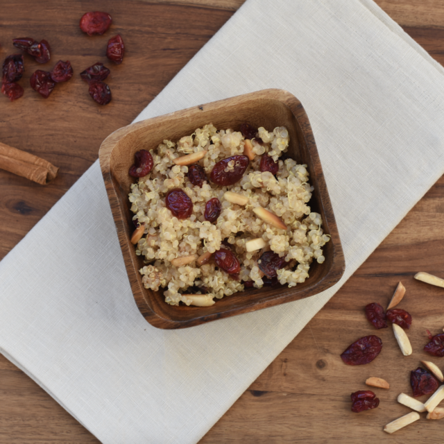 Cranberry Almond Breakfast Quinoa